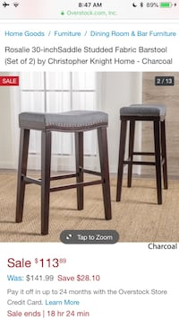 4 Bar Stools - NEW In Box Herndon, 20170