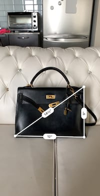 Authentic Hermes Kelly 35 vintage used black Richmond