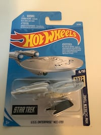 Hot wheels Star Trek USS enterprise NCC 1701 diecast movie ship plane
