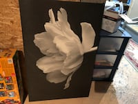 Ikea picture flower painting art 24x36
