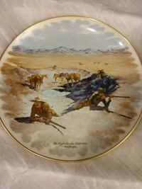 brown and white horse print decorative plate Phoenix, 85053