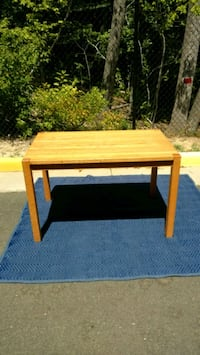 rectangular brown wooden side table Prince William County