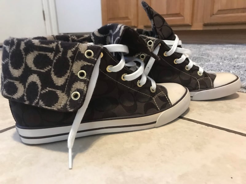 Coach High Top Fold over Sneakers 2