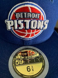 Youth New Era Detriot Pistons fitted hat