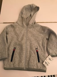 New with tag Gray zip-up hoodie 18 Months. Reston, 20190