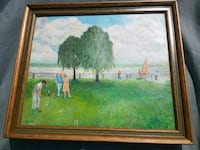 Lovely realism artwork of people playing polo Waldorf
