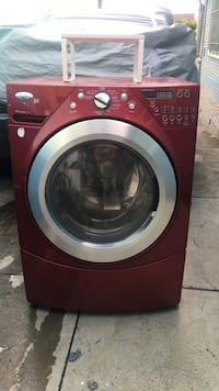 Red front-load clothes washer San Francisco, 94112