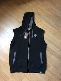 svart zip-up vest Oslo, 0458