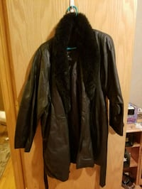 Long Winter Leather Jacket.