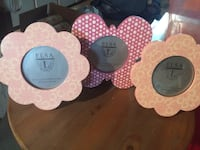 Set of 3 new picture frames (2 flowers & 1 butterfly)