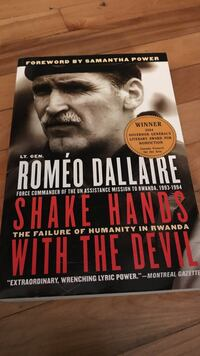 Shake Hands With the Devil, by Romeo Dallaire Montréal, H3H