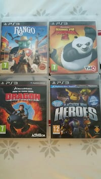 PS3 Rango, Kung Fu Panda 2, Dragon and Heroes spelfall Västerås, 724 81