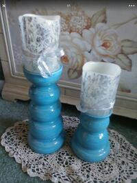 Turquoise candle holders or possibly vases Vancouver, 98682