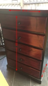 Tall 5 drawer dresser Surrey, V3V 3H2