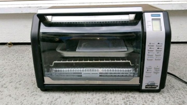 black and gray toaster oven