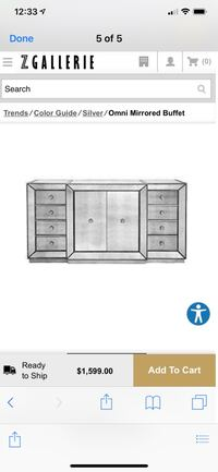 Zgallerie dresser and two night stand Fairfax, 22031