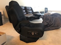 black leather padded rolling armchair Laurel, 20707