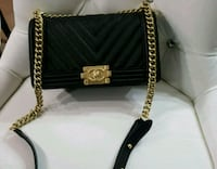 quilted black Chanel leather chain crossbody bag Mississauga, L5W 1P1