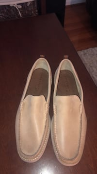 pair of gray leather loafers Bristow, 20136