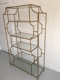 Gold metal glass cabinet very stylish 6ft  Danville, 94526