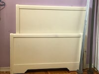 Twin bed with metal side rails Mississauga, L5C 1H9