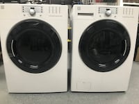 white front-load washer and dryer set Bartlett, 38002