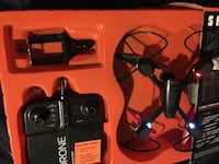 Black and red quadcopter with controller Killeen, 76543
