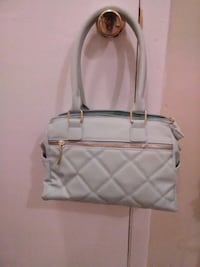 white and gray leather tote bag Hinesville, 31313