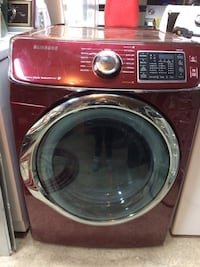 red Samsung front-load clothes washer Edmonton, T5G 2H2