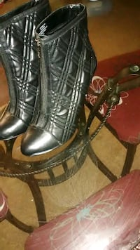 Kelly & katie black leather boots Cheverly, 20785