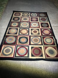 black, white, and red area rug Irving, 75061