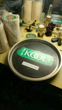 Collectible kool stainless steel tray