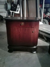 brown wooden 2-drawer end table Hagerstown
