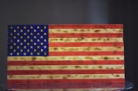 Hand Crafted Rustic American Flags Crown Point, 46307