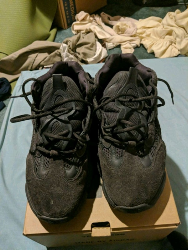 premium selection 44198 b119a Yeezy 500s Utility Black