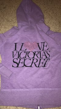 purple and black Love Pink pullover hoodie Robinson, 76706