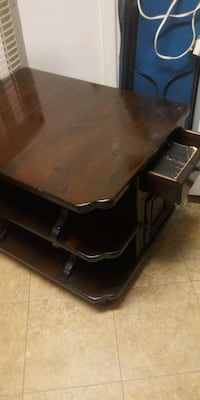 Dark brown night stand with a cabinet in front Phillipsburg, 08865