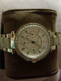 round silver Michael Kors chronograph watch with silver link bracelet Anaheim, 92801