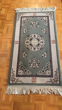 White, blue, and red floral prayer rug Toronto, M6B 4B4