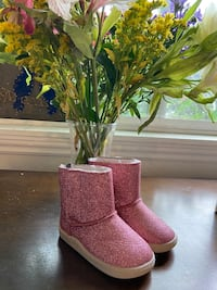 Pink sparkle boots brand new