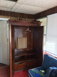 brown wooden cabinet with mirror White Plains