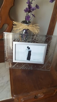 Etched glass picture frame.  Wentzville