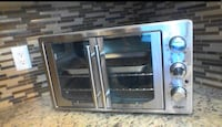Oster French double door Oven with convection , stainless steel large