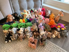 (90)  OLD Ty Beanie Babies collection.