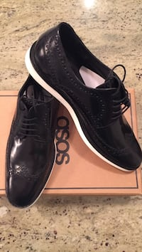 Black brogue shoes with white sole Toronto, M4Y 1T1
