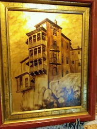 brown wooden framed painting of house Tempe, 85282