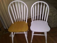two white and brown wooden windsor chairs Columbus, 31904