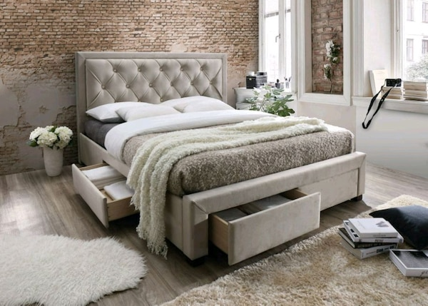 Brand New Queen Size Storage Bed (king Available)