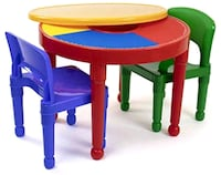 The Tot Tutors Kids 2-in-1 Plastic LEGO-Compatible Activity Table  Toronto, M5A 1B6