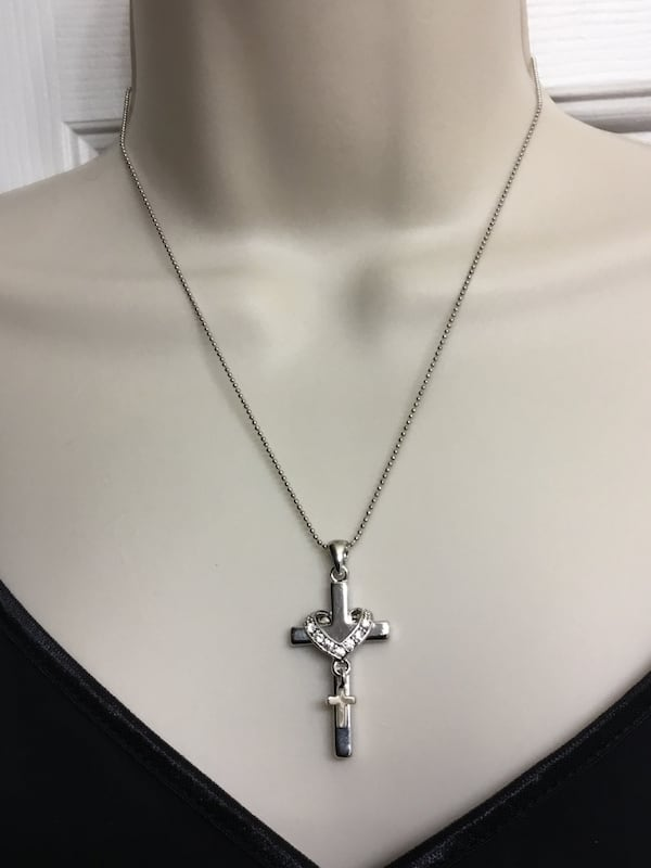 Stainless Steel Cross Necklace and chain baa6b034-a102-48be-87dc-6be4f92be450
